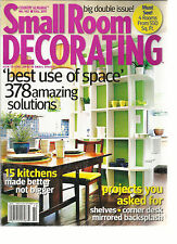 SMALL ROOM DECORATING,  BIG DOUBLE ISSUE !   FALL, 2011  ( BEST USE OF SPACE  )