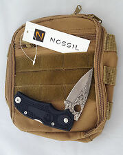 Survival Fire Starter Folding Knife MOLLE Pouch Bag EDC Outdoors Compass NOSSIL