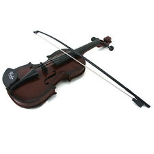 Kids Educational Musical Instrument Fiddle Brown Simulation Toys Violin Demo