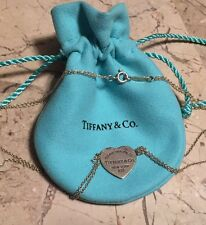 RETURN TO TIFFANY & CO STERLING SILVER HEART TAG DOUBLE STRAND NECKLACE NEW YORK