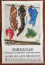 Affiche Expo NORDANAD Peintures Sculptures MUSEE DES ARTS DECORATIFS *