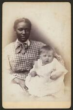 "African American Woman & Baby 1875 New York USA 5th Ave East 14th St 7x5"" Photo"