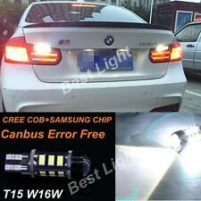 2x T15  Error Free LED Reverse Back up Light Bulb For Bmw F10 F11 5s 2010-2016