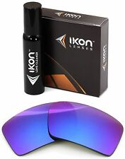 Polarized IKON Iridium Replacement Lenses For Oakley Eyepatch 2 Purple Mirror