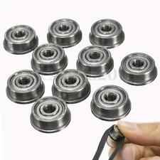 10x F623ZZ Metal Double Shielded Flanged Ball Bearings 3x10x4mm For 3D Printer