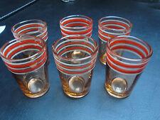 Lot de 6 verres à liqueur anciens