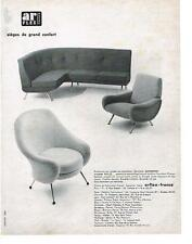 PUBLICITE ADVERTISING  1958  ARFLEX  fauteuils