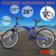 "26""FOLDING MOUNTAIN BIKE 7 SPEED MTB BICYCLE MEN'S BIKE SHIMANO MOUNTAIN BICYCLE"