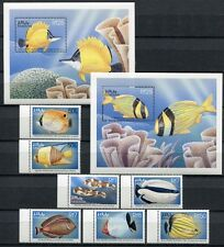 Maldivas Maldive 1998 peces fishes poissons Pesci 3122-3146 + bloque 414-415 **