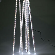 240 LED Meteor Shower Rain Light Tube String Xmas Decorate Tree Party Cool White