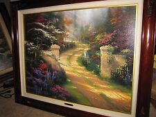 "Thomas Kinkade ""Spring Gate"" Canvas 2846/3950 Signed COA 25.5""x34"""