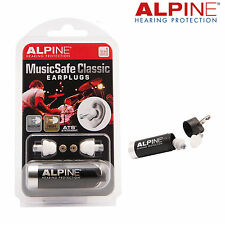 ALPINE MUSIC SAFE CLASSIC Ear Plugs SNR17 & SNR18- Musicians & DJs - FREE UK P&P