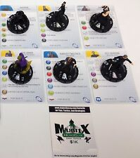 Heroclix The Dark Knight Rises set COMPLETE lot of 6 Starter set figures w/cards