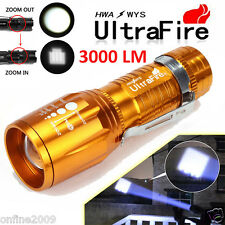 Ultrafire 3000 Lumens CREE LED Rechargeable Flashlight Torch Super Bright Light