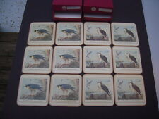Twelve North American Birds of Prey Acrylic Cork Coasters - made in England