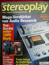 STEREOPLAY 6/96  ISOPHON FUEGO, MAGNAT M 2, N`DENON 725 RB&W DM 602, ONKYO D7510