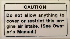 KAWASAKI Z650 GPZ900R Z1100R KZ1100R GPZ1100  AIR INTAKE CAUTION WARNING DECAL