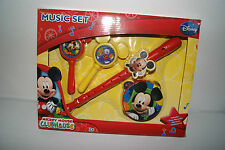Mickey Mouse Clubhouse Musical Set Toy Flute Tambourine Maracas New!