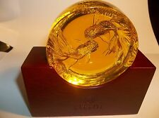 JAPAN ARTIST TITTO RARE GOLD GLASS, SIGNED PIECE JAPANESE FIGHTING FISH 1/1 ONLY