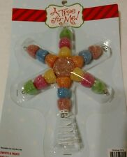 Mini Miniature Christmas Tree Topper Holiday Ornament Candy Gumdrop Sweet Treats
