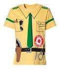 Kinder Uniform T-Shirt * Polizei gelb 92/98 bis 140/146