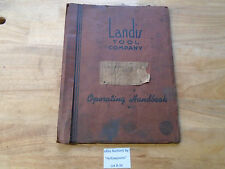 "B34 Landis 4"" Type H Hyd. Grinding Machine Operator's & Parts Schematic Manual"