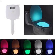 8 Farben LED Lampe für Toilettendeckel Toilette WC Sitz Nachtlicht Bad Klodeckel