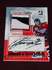 10-11 ITG Heroes & Prospects STEVEN STAMKOS Team Canada AUTO EMBLEM /6 Autograph