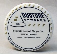 1920's DUOTONE Boswell SEATTLE Wash advertising celluloid record cleaner brush *