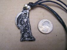 Resin Santa Muerte/Santisima Muerte Grim Reaper with Orb Necklace - Mexico