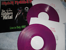 IRON MAIDEN RARE NOW 2  LP THE GODFATHERS OF METAL OOP 150 COPIES PURPLE WAX