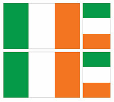 4 X IRISH REPUBLIC EIRE FLAG VINYL CAR VAN IPAD LAPTOP STICKER