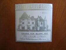 etiquette haut brion 1934 blanc