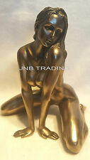 TOP SELLER Artistic Nude Sexy Female Statue Sculpture Figurine Bronze Finish