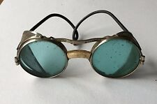 Old Vintage Safety Goggles Eye Glasses - Steampunk Made in England British