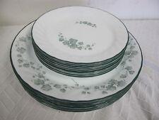 CORELLE CALLAWAY GREEN IVY PLATES (18) 9 DINNER -9 DESSERT SALAD