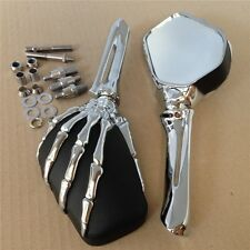 Claw Skeleton Hand Mirror For Honda Cb Cbr Rebel Shadow Mangna Vt Vtx 1300 1800