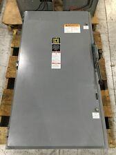 Square D Safety Switch H325N KI 400 Amp 240 Volt Fusible W/ Key Lockout H325NKI