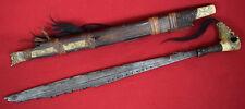 Original Rare Antique 19th,c. Dayak Mandau Sword from Indonesian