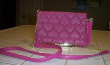 NWT BETSEY JOHNSON WALLET ON A STRING  *BE MINE PINK * CUTE!!
