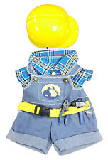 "Construction Worker w/ Hat Outfit Teddy Bear Clothes 14-18"" Build-A-Bear n More"