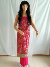 Rajasthani Style Magenta Embroidered Cotton Dress Material for all Occasions