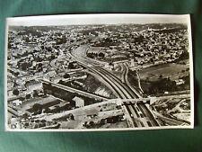 AUTOROUTE DE MARSEILLE 1958 - PHOTO ARGENTIQUE AERIENNE 27 CM x 45 CM LAPIE