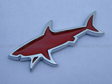 JAWS SHARK CHROME GIFT IDEA 3D CAR VAN FRIDGE WALL BADGE FORD TRANSIT CONNECT