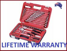 "Sidchrome 79 Piece 1/4"" & 1/2"" Drive Socket & Spanner Set Tool Kit 10800"