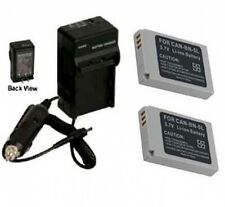 TWO Batteries + Charger for Canon Digital IXUS 800 850 860 IS 870 IS 90 IS 990
