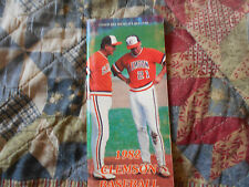 1982 CLEMSON BASEBALL MEDIA GUIDE JIMMY KEY Toronto Blue Jays NY Yankees Clem AD
