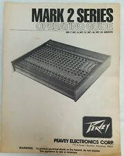 Peavey Mark 2 Series Mixers Operating Guide