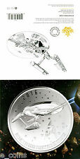 2016 ROYAL CANADIAN MINT STAR TREK ARTWORK COA W/INSIGNIA MAPLE LEAF NO COIN
