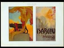 POSTERS, ISABEAU MASCAGNI OPERA - 1910 LITHOGRAPH - GIUSEPPE PALANTI,